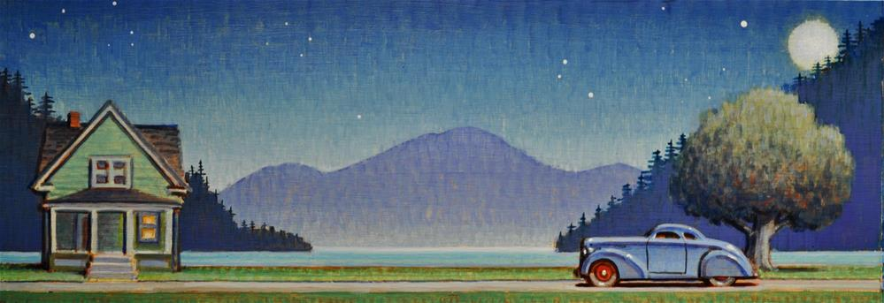 """Moonrise"" original fine art by Robert LaDuke"