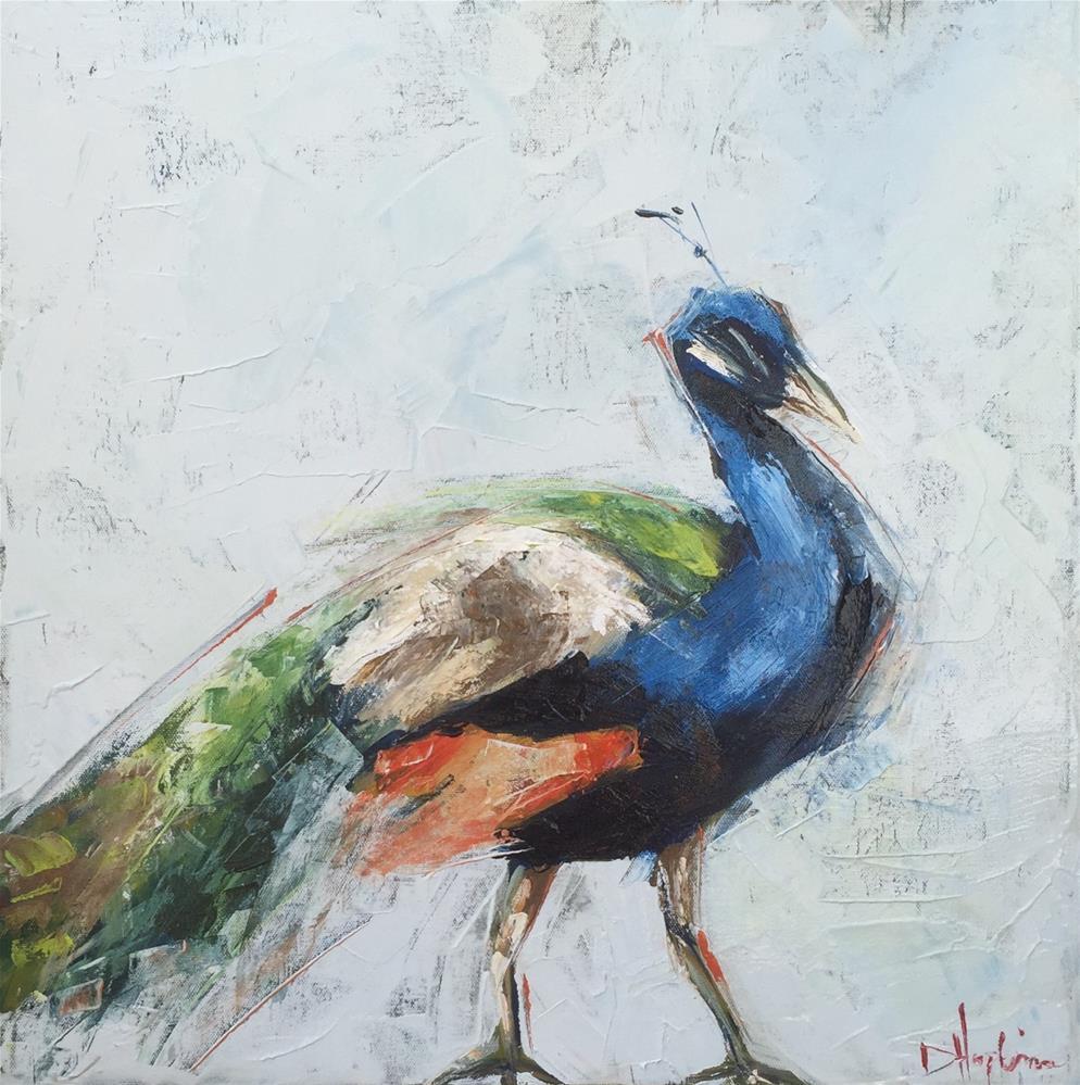 """""""Show Off"""" original fine art by Denise Hopkins"""