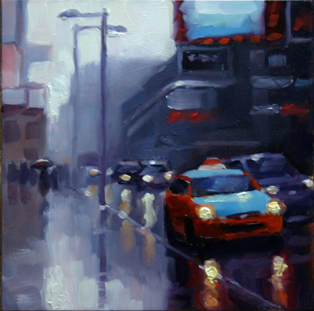 """Beck Taxi on Yonge, Toronto"" original fine art by Catherine Jeffrey"