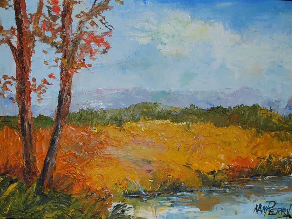 """Landscape with Palette Knife"" original fine art by Nan Perry"
