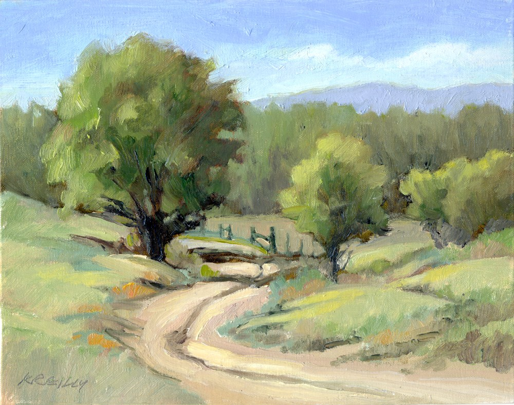 """Sandstone Road"" original fine art by Kath Reilly"