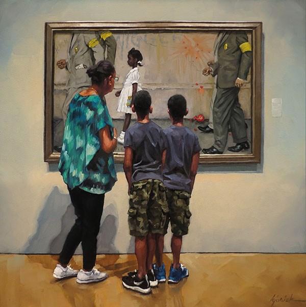"""Walk A Mile (in Their Shoes)"" original fine art by Karin Jurick"