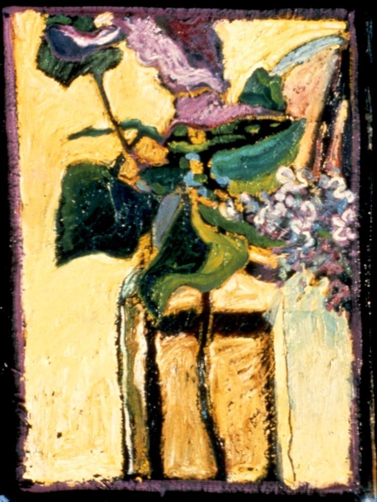"""First Signs on Purple"" original fine art by Diane Paroda"