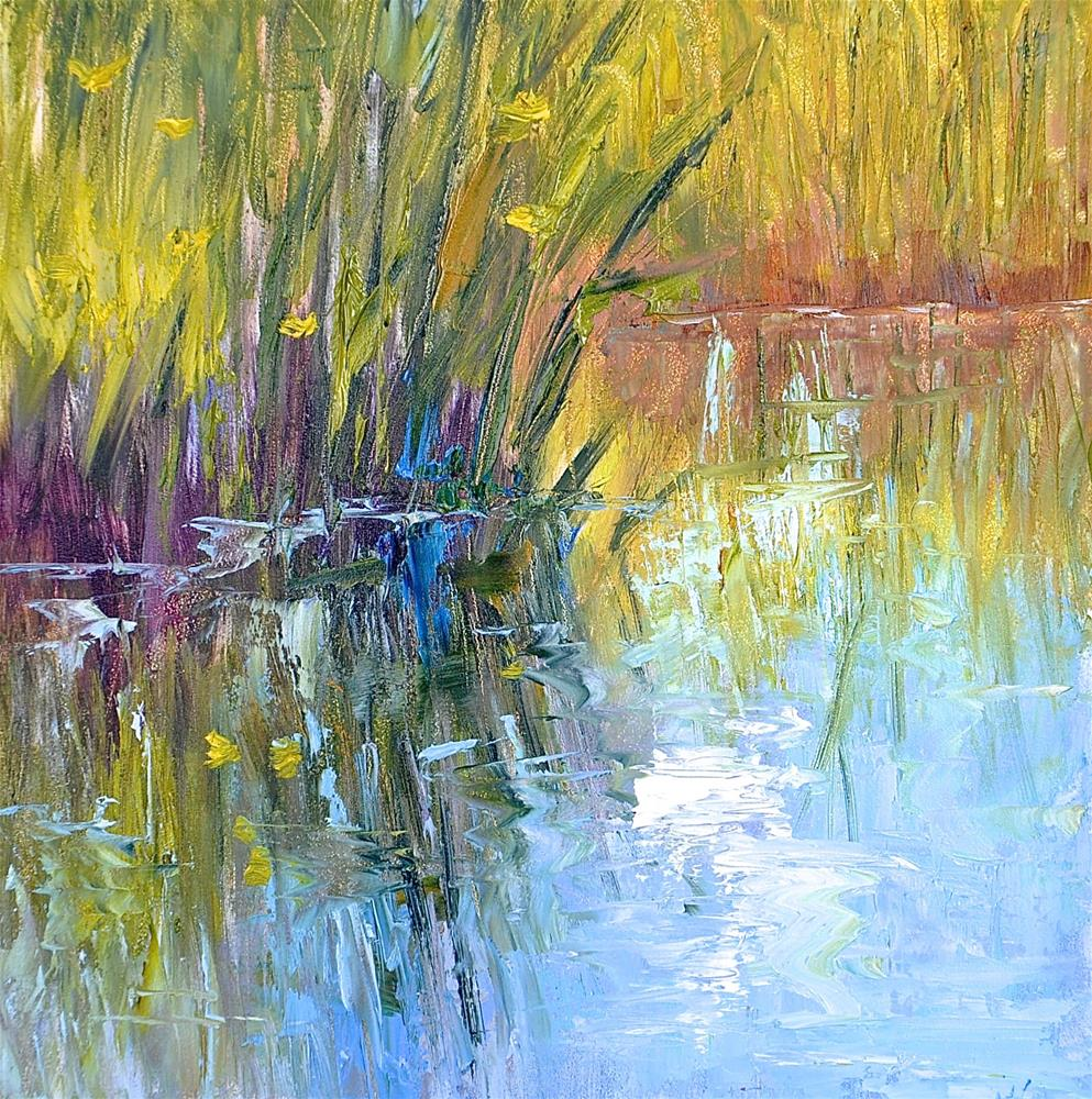 """Morning Reflections"" original fine art by Jacquelyn Blue"