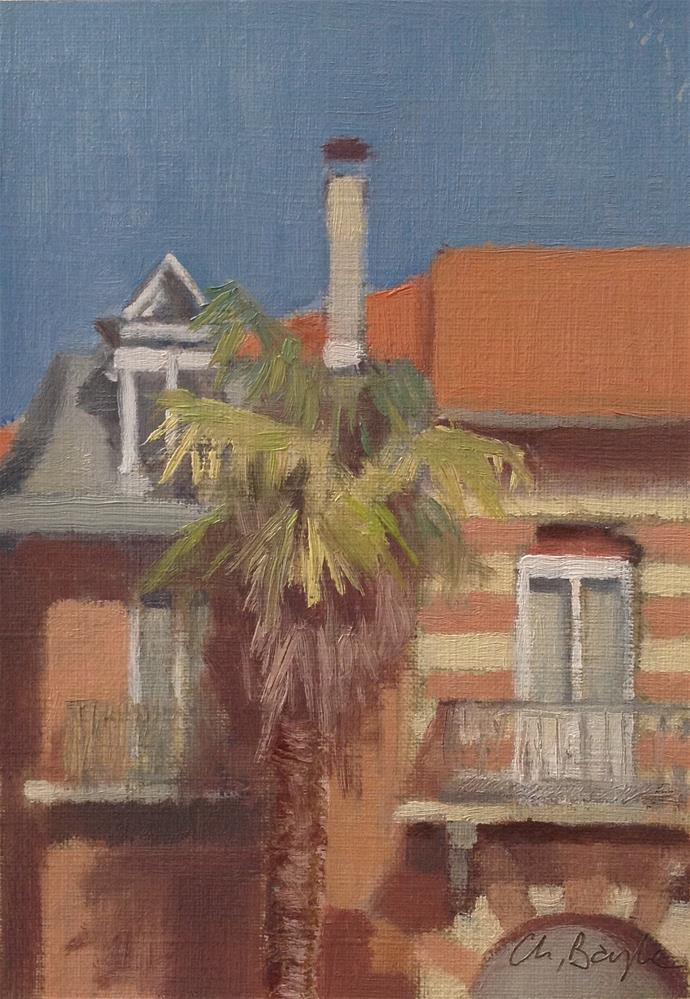"""Neighborhood"" original fine art by Christine Bayle"
