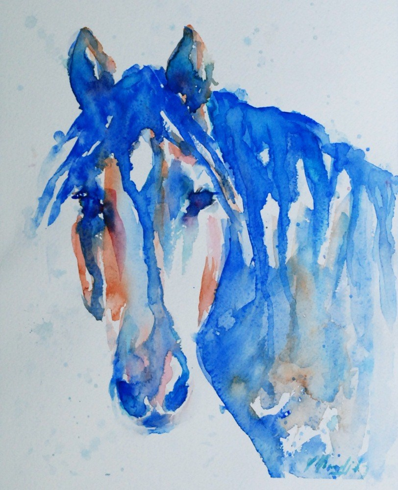 """sweet eyes!"" original fine art by Vicki Wood"