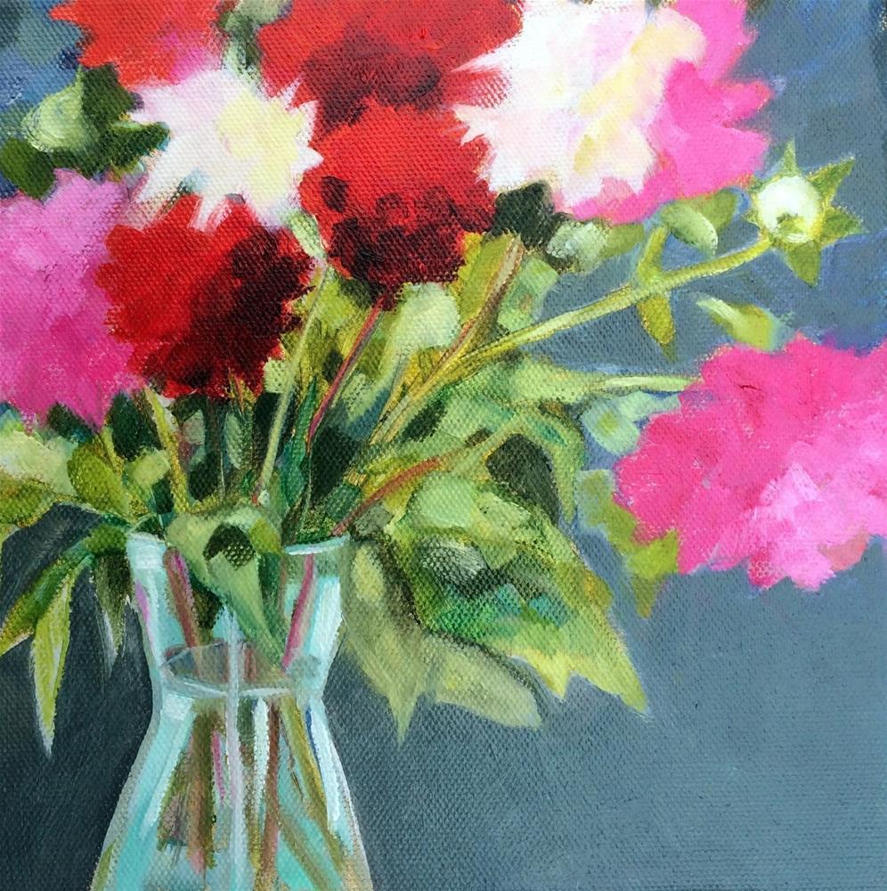 """D - for Dahlias"" original fine art by Suzanne Gysin"