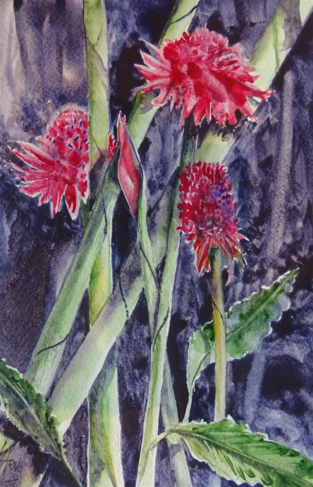 """""""Exotic Flowers in Asia"""" original fine art by Martin Stephenson"""
