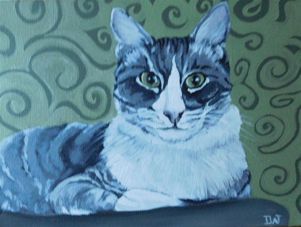 """""""Green Eyes"""" original fine art by Daryl West"""