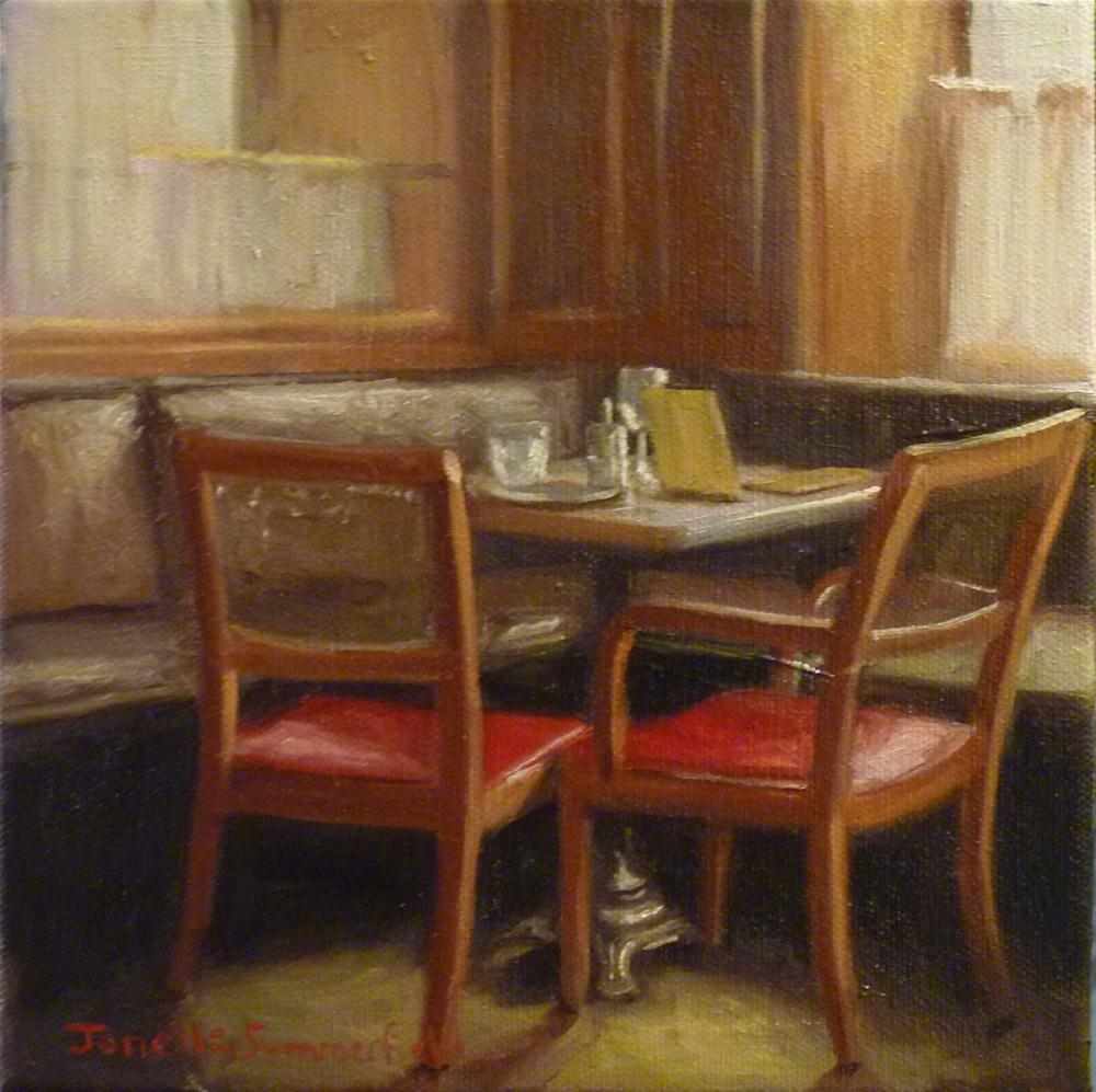 """Cafe Bazar"" original fine art by Jonelle Summerfield"