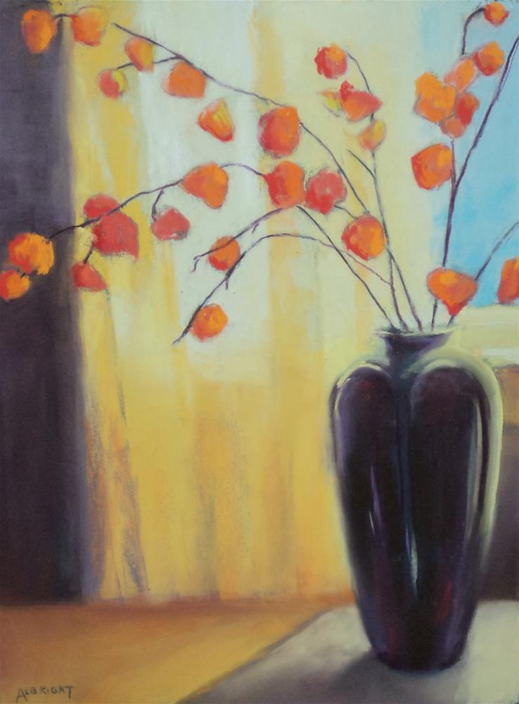 """Chinese Lanterns"" original fine art by Judy Albright"