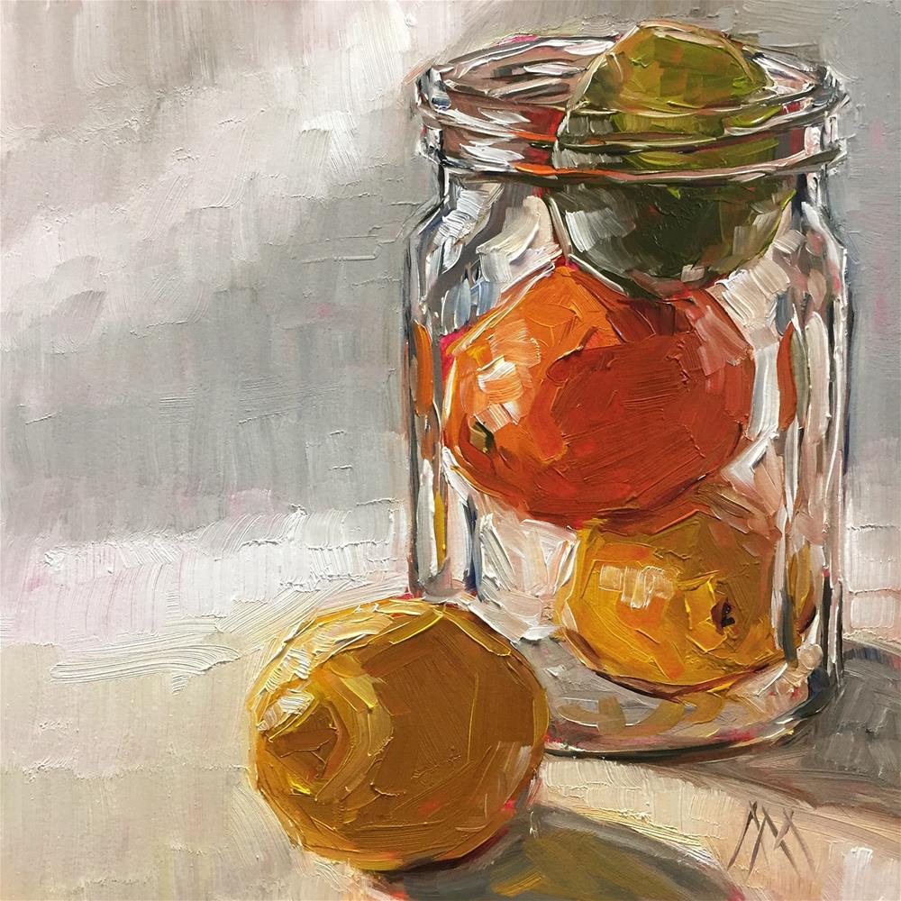"""Masonic Citrus Fruit"" original fine art by Austin Maloney"