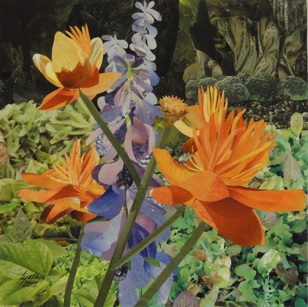 """Golden Queens and Lilac Ladies"" original fine art by Cynthia Frigon"