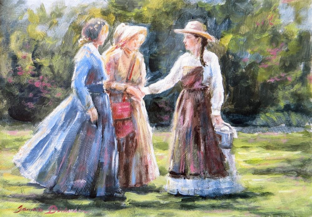 """Meeting in the Garden"" original fine art by Tammie Dickerson"