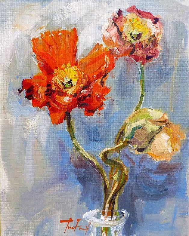 """Mohnblumen"" original fine art by Jurij Frey"