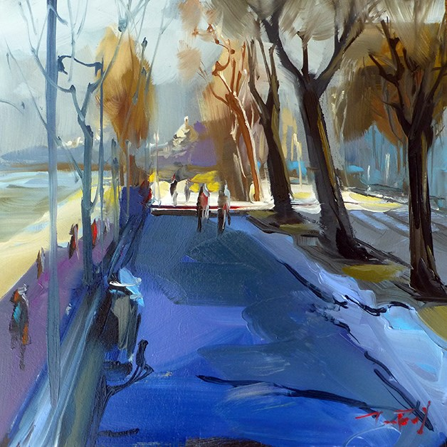 """Allee"" original fine art by Jurij Frey"
