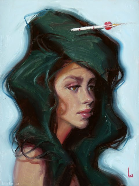 """Warhead"" original fine art by John Larriva"