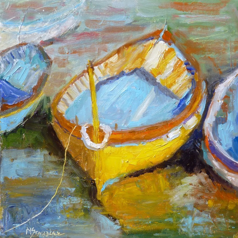 """French Boat"" original fine art by Nancy Standlee"