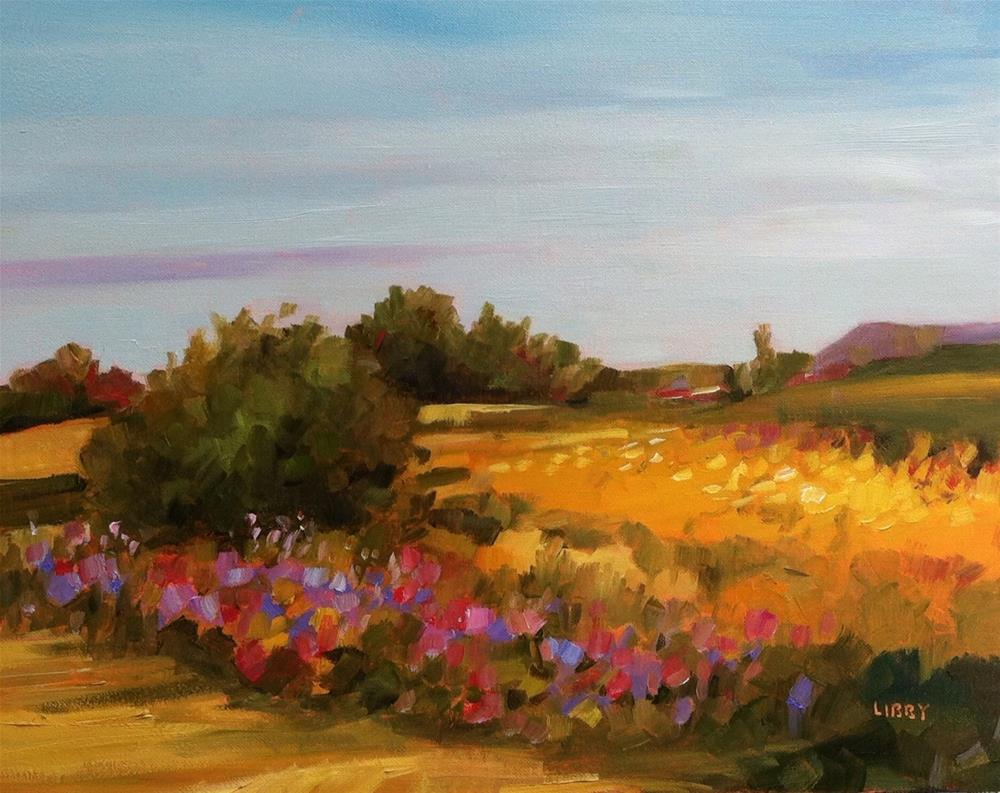"""Cool Sky"" original fine art by Libby Anderson"