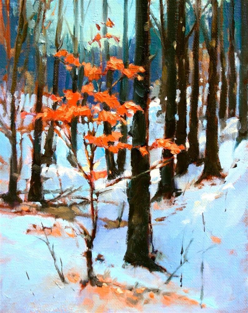"""Late Winter Forest III"" original fine art by Jane Robertson"