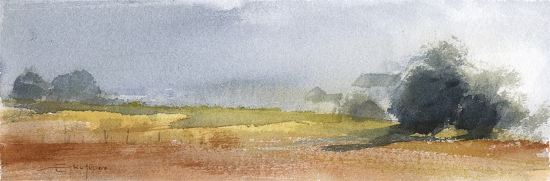 """Countryside 17"" original fine art by Emilio López"