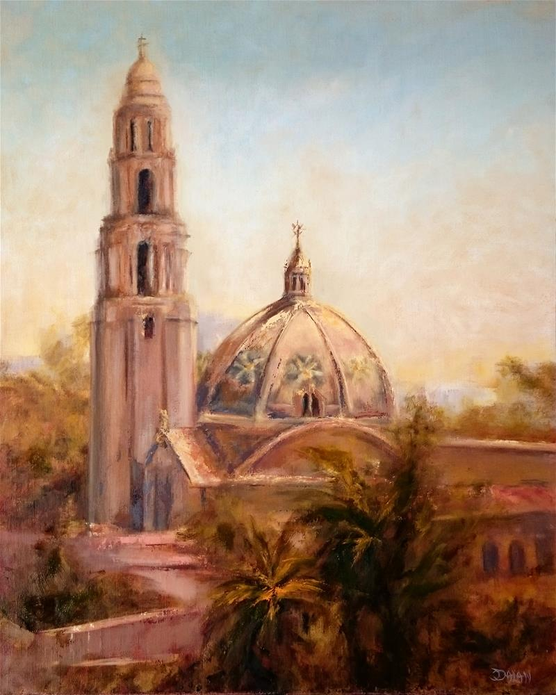 """California Tower Balboa Park San Diego"" original fine art by Dalan Wells"