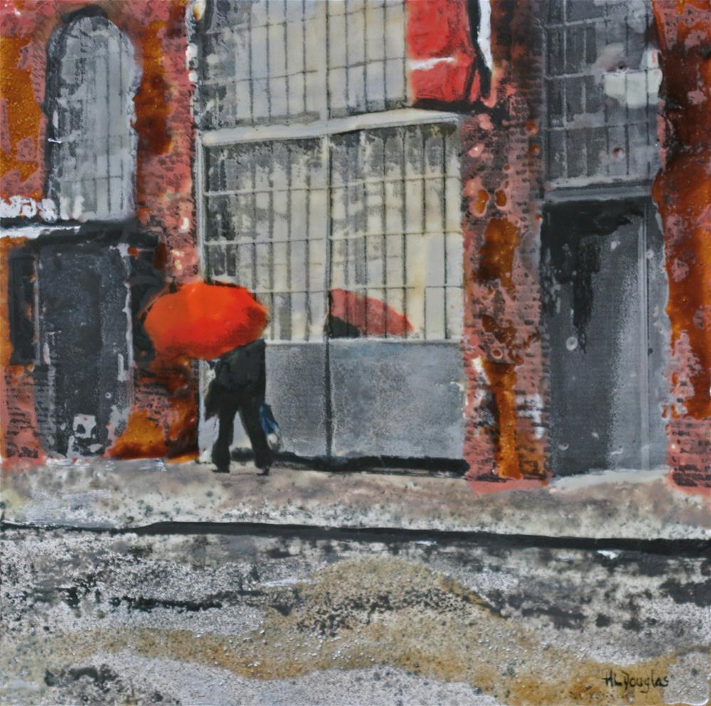 """Chelsea Umbrella"" original fine art by Heather Douglas"