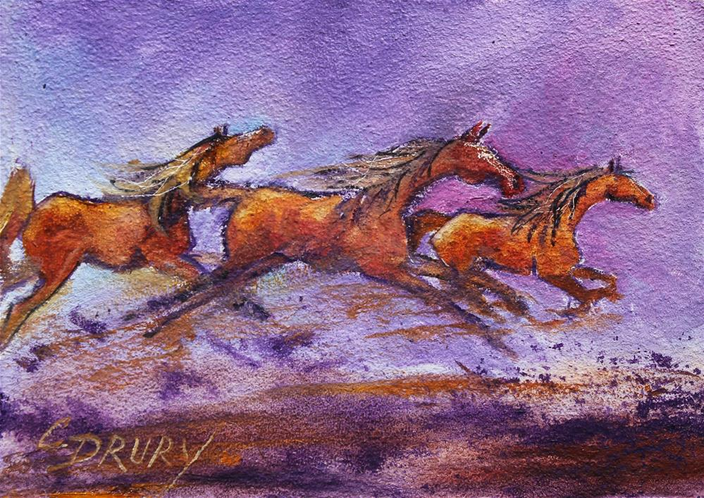 """The Fast Track"" original fine art by Colleen Drury"