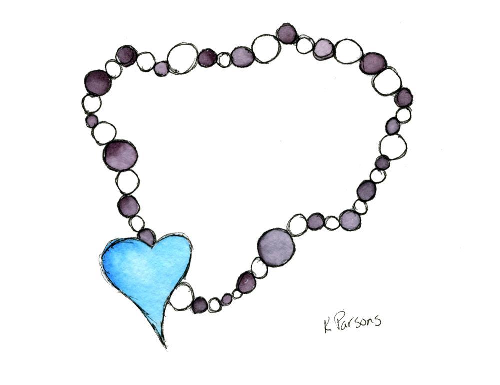 """""""Heart Necklace"""" original fine art by Kali Parsons"""