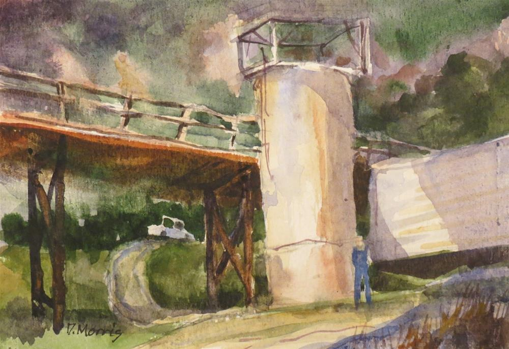 """The Footbridge"" original fine art by Dann Morris"