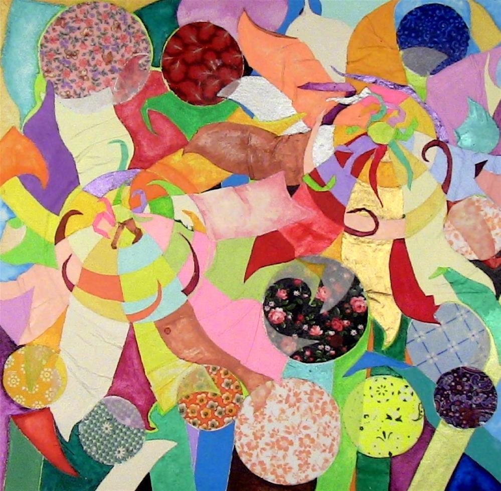"""Flowerbed Gifts"" original fine art by Lisa Fulton"