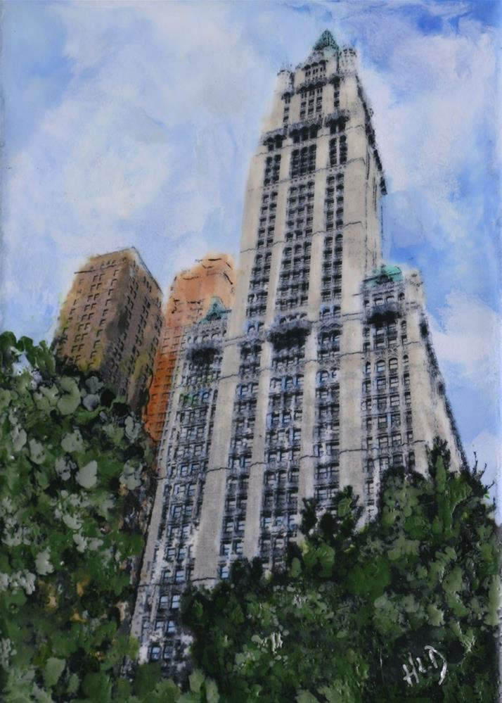 """""""The Woolworth Building"""" original fine art by Heather Douglas"""