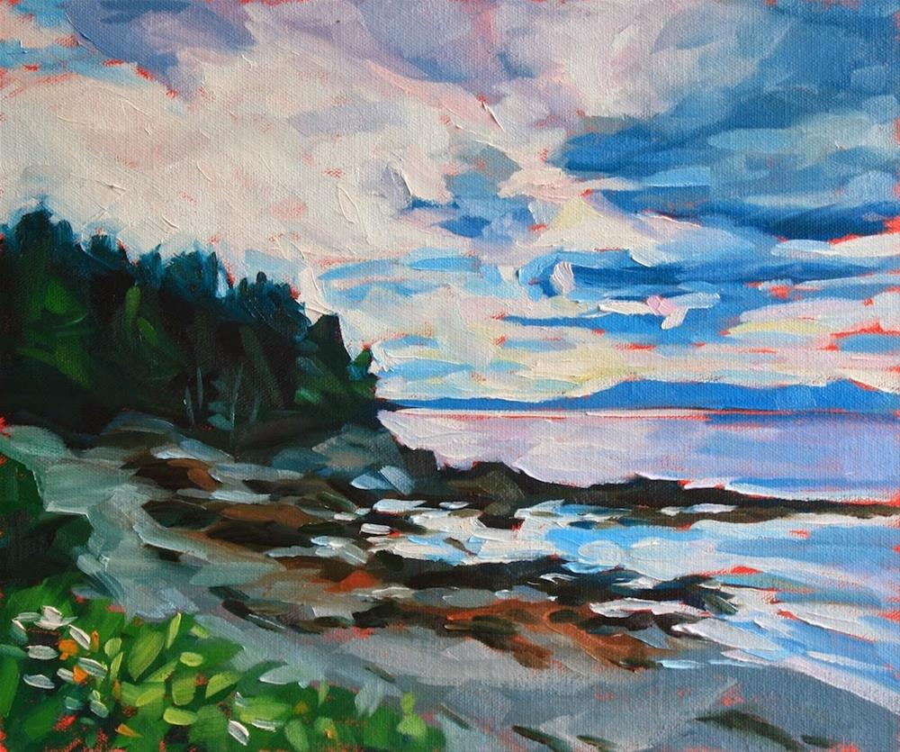 """North Haven Dusk"" original fine art by Mary Anne Cary"