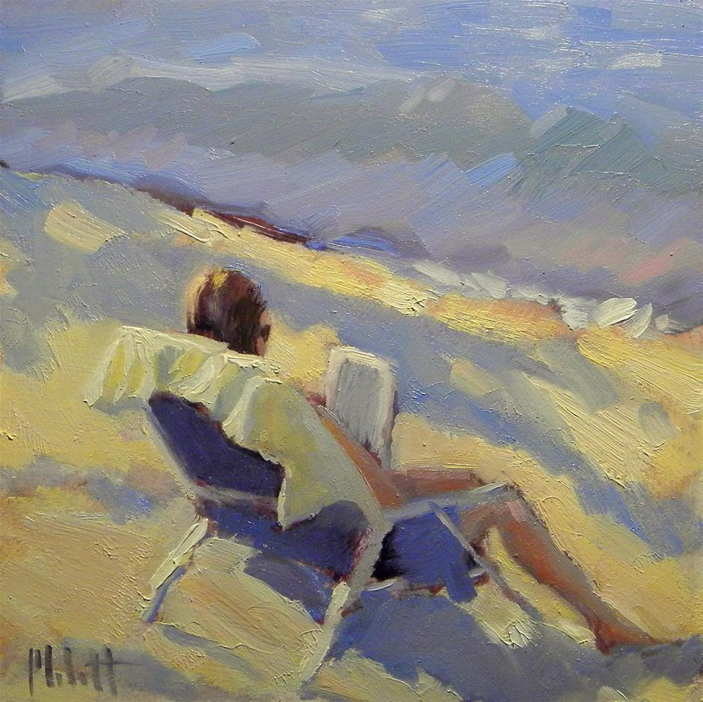 """Beach Read Contemporary Impressionism Original Oil Painting"" original fine art by Heidi Malott"