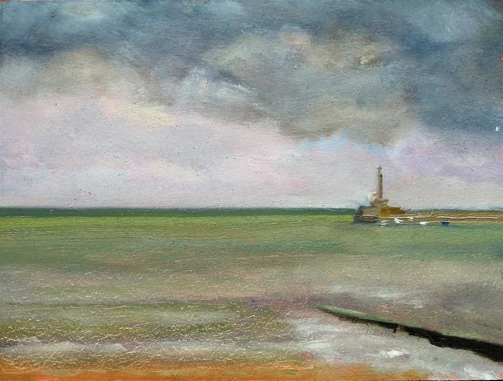 """Margate and Harbour Arm"" original fine art by Robin Coutts"