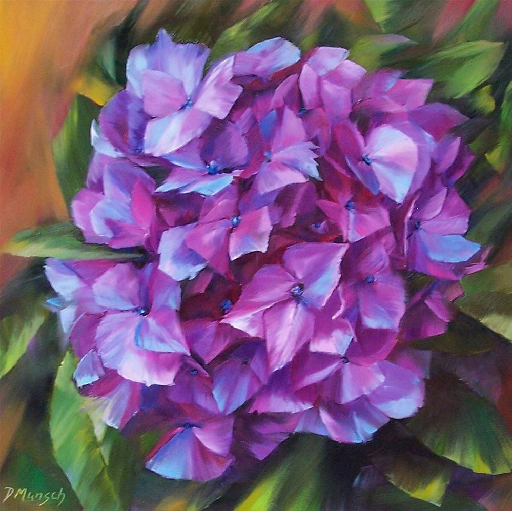 """Hydrangea"" original fine art by Donna Munsch"