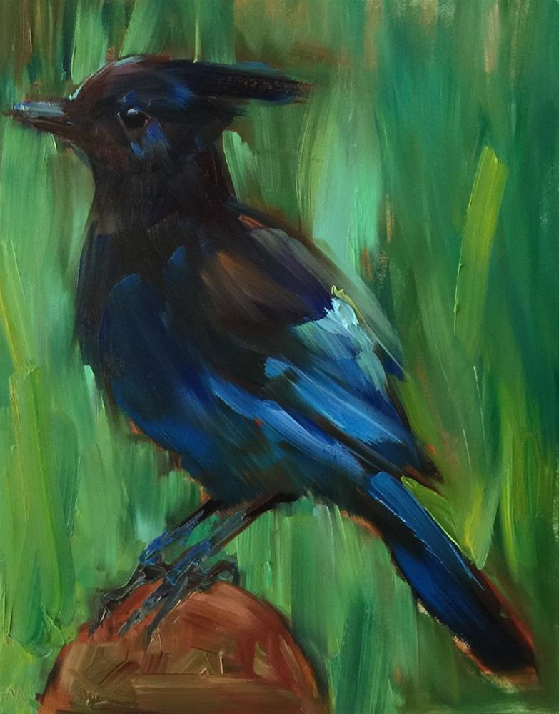 """Blue and Green Make a Steller Combination"" original fine art by Patti McNutt"