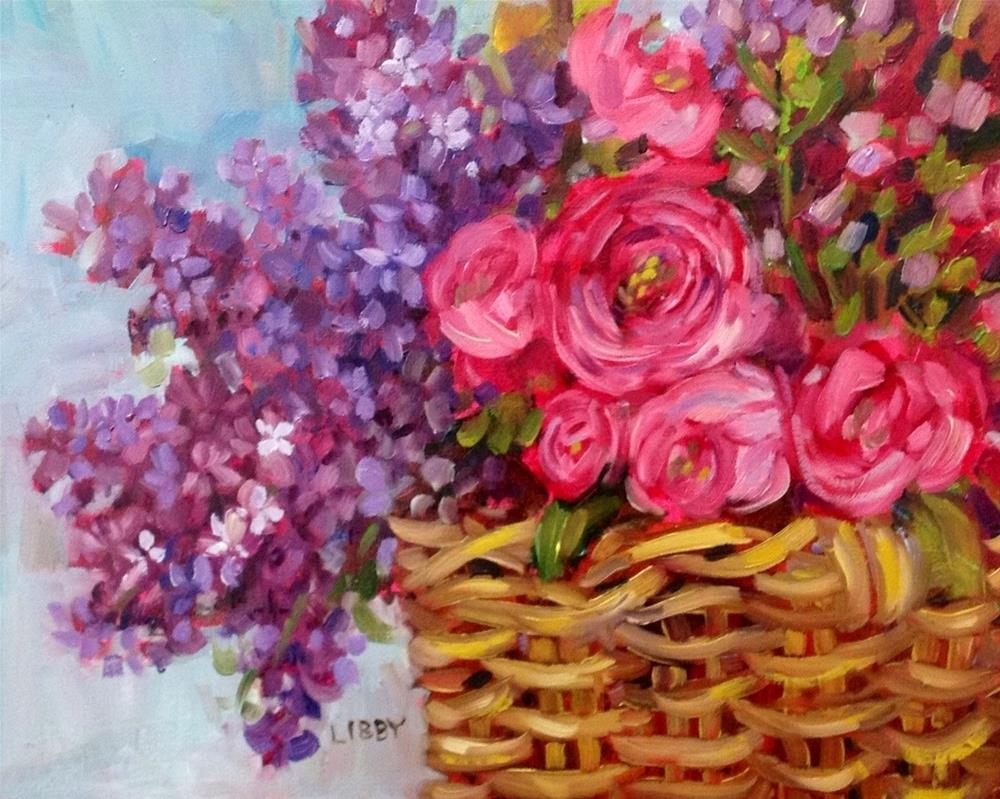 """Lilac Basket"" original fine art by Libby Anderson"