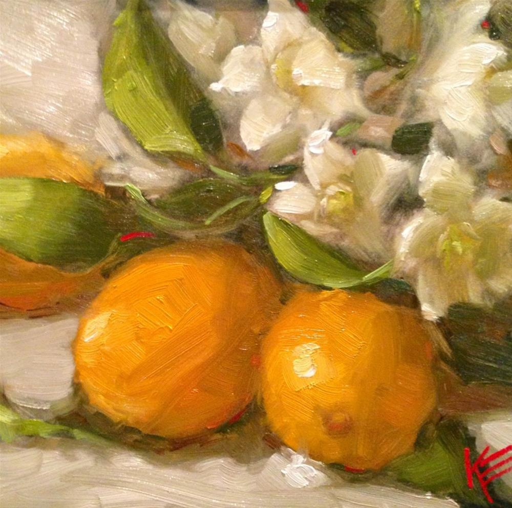 """Kumquats & Paperwhites"" original fine art by Krista Eaton"