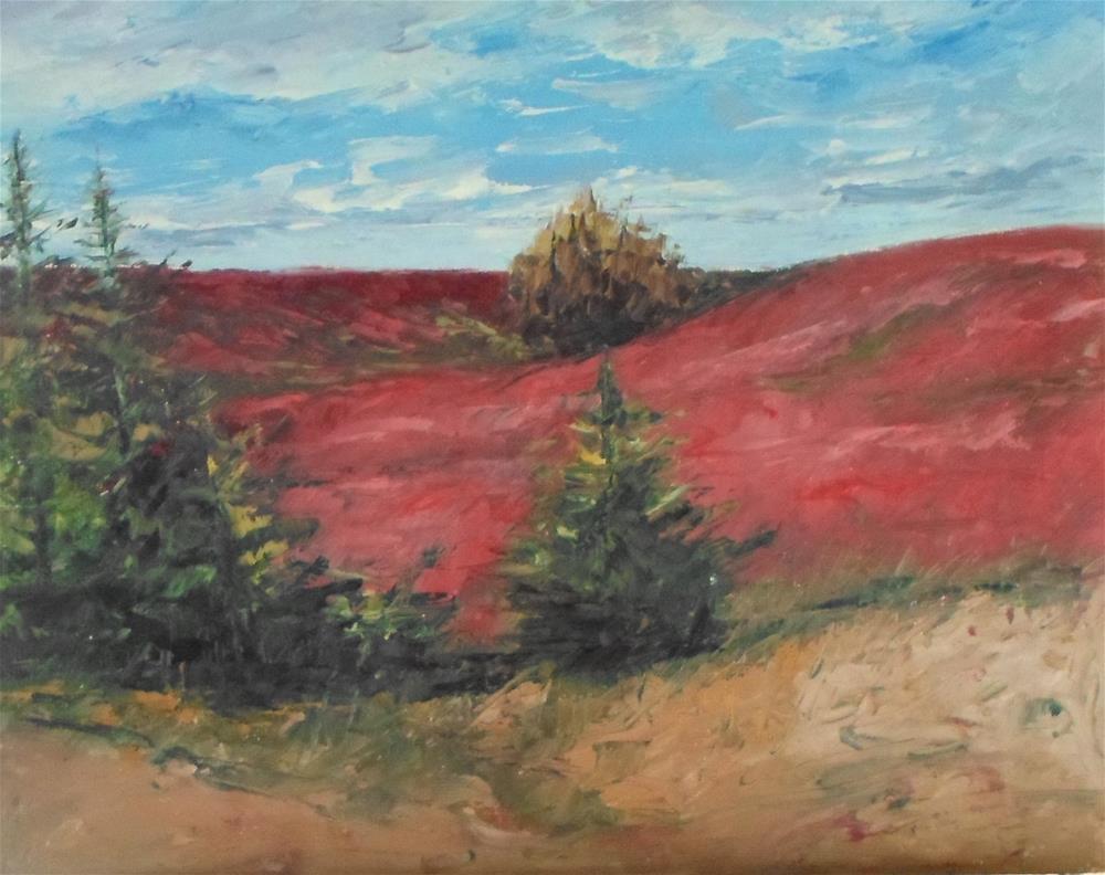 """""""8 x 10 inch N.S. Blueberry Fields"""" original fine art by Linda Yurgensen"""
