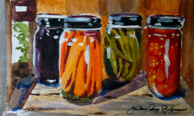 """Canned Goods"" original fine art by JoAnne Perez Robinson"