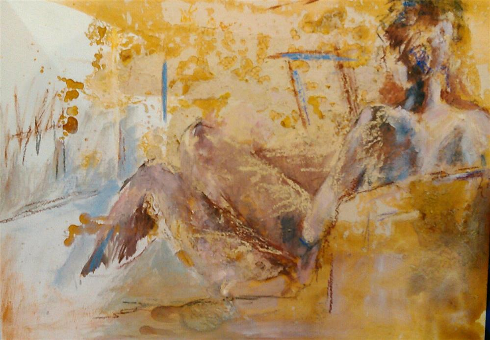 """The Lounger"" original fine art by Ann Rudd"