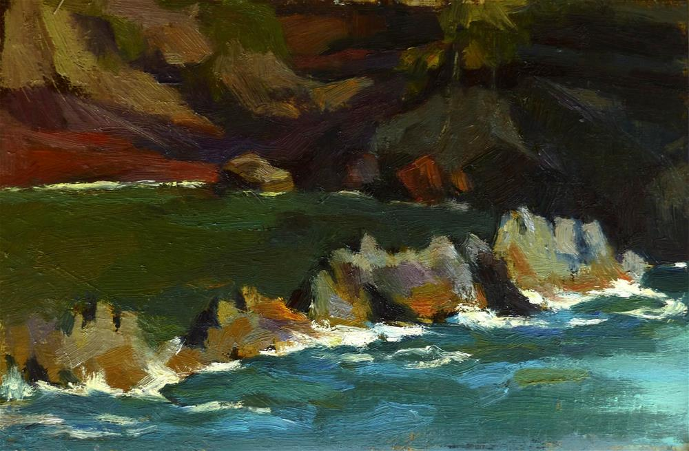 """pleinair#5 (Red Sand Beach, Hana)"" original fine art by Katya Minkina"