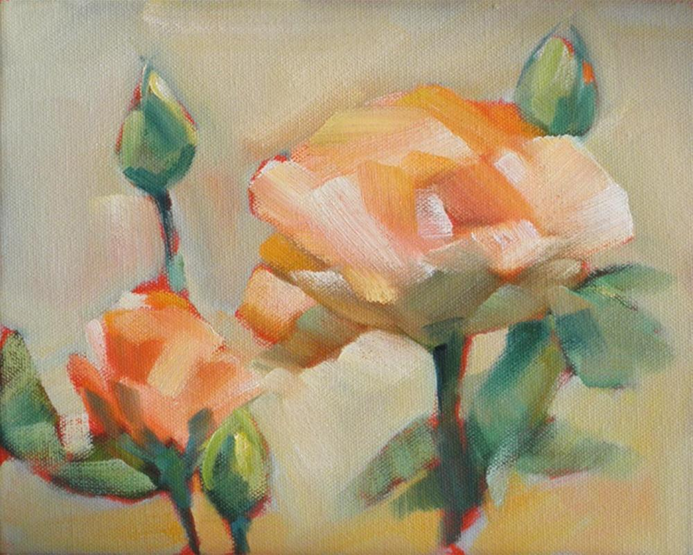 """Yellow Roses"" original fine art by Cheryl Wilson"