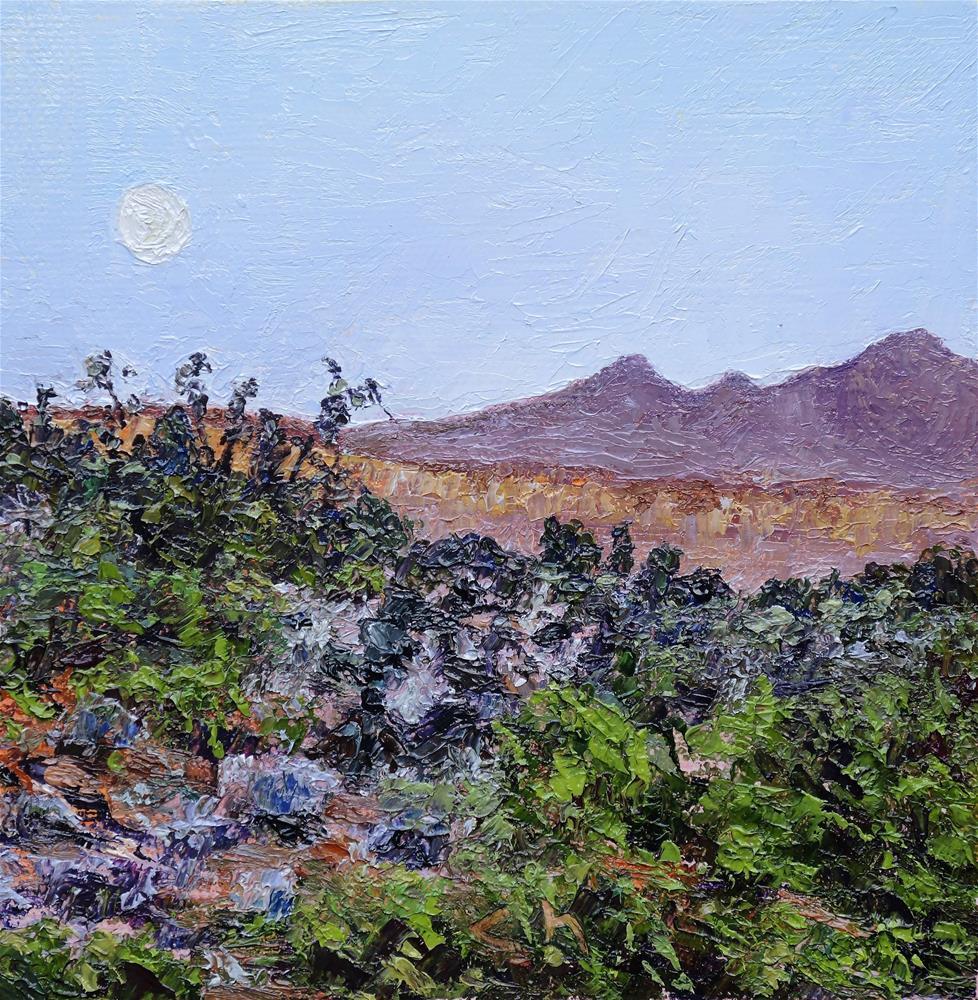 """Day Moon"" original fine art by Candi Hogan"