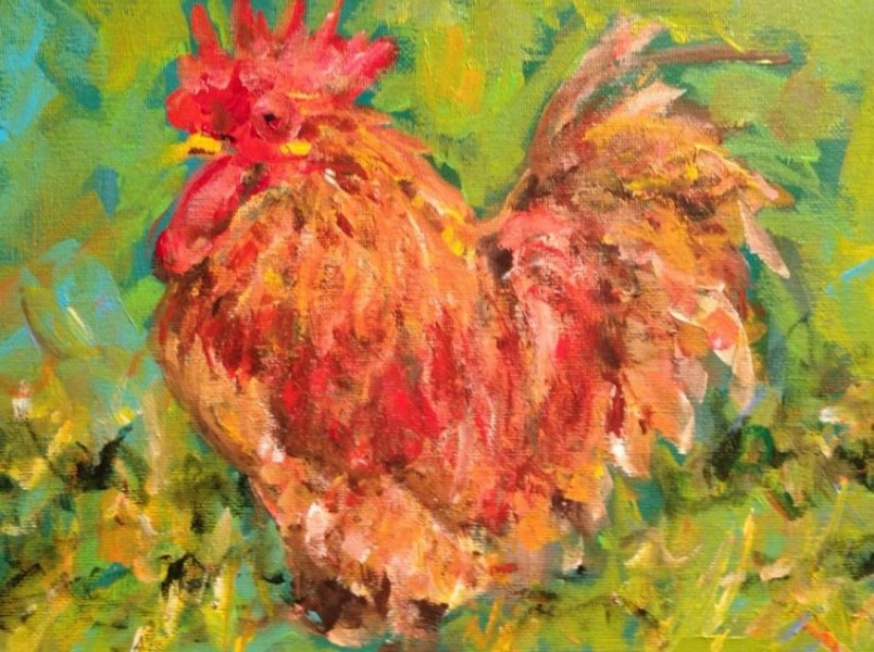"""Harvey"" original fine art by Molly Wright"