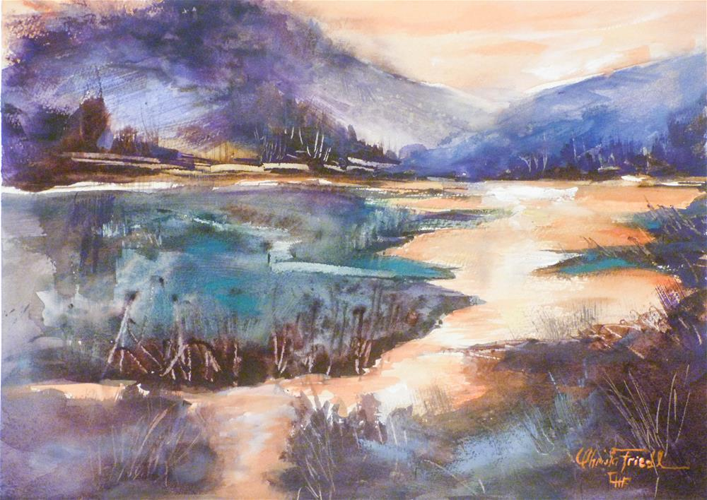"""Alpenglühen – Alpenglow"" original fine art by Christa Friedl"