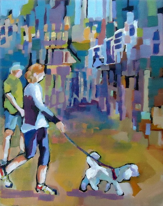 """""""Out and About"""" original fine art by Laurie Mueller"""