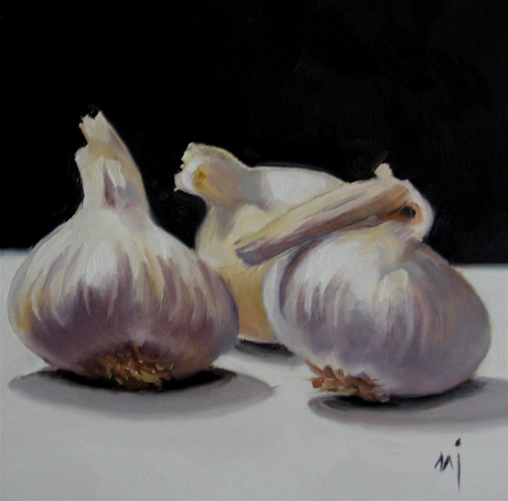 """Garlic Cloves"" original fine art by Nel Jansen"