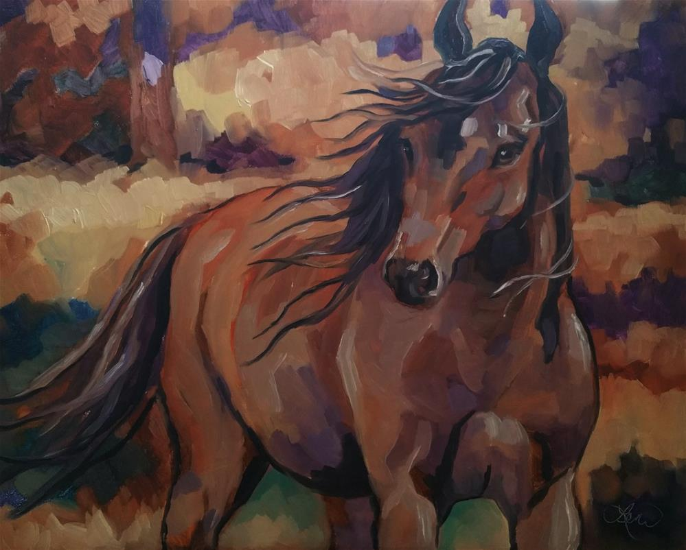 """Autumn Breeze"" original fine art by Leni Tarleton"